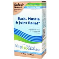 Dr. King's Natural Medicine Back Muscle & Joint Relief Taste Free - 2 fl oz