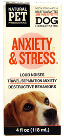 Natural Pet Pharmaceuticals Anxiety & Stress for Dogs - 4 fl oz