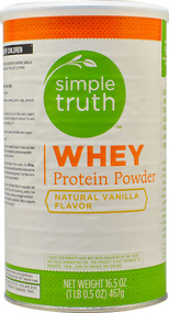 Simple Truth Whey Protein Powder Natural Vanilla - 16.5 oz