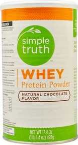 Simple Truth Whey Protein Powder Natural Chocolate - 17.4 oz