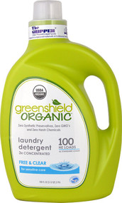 GreenShield Organic Laundry Detergent 3x Concentrated Free & Clear - 100 fl oz