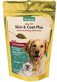 NaturVet, Aller-911 Skin and Coat Plus Advanced Allergy Powder for Dogs and Cats - 9 oz