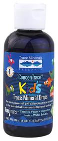 Trace Minerals Research ConcenTrace Kid's Trace Mineral Drops Strawberry - 4 fl oz