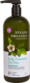 Avalon Organics, Shampoo, Scalp Treatment, Tea Tree, 32 fl oz (946 ml)