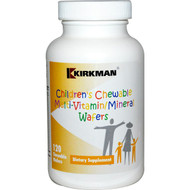 Kirkman Labs, Childrens Chewable Multi-Vitamin/Mineral Wafers, 120 Chewable Wafers