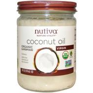 Nutiva, Organic Coconut Oil, Virgin, 14 fl oz (414 ml)