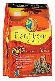 Earthborn Holistic Primitive Feline Natural Dry Food for Cats & Kittens Grain Free - 5 lbs