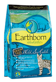 Earthborn Holistic, Wild Sea Catch Natural Cat & Kitten Dry Food Grain Free - 6 lbs