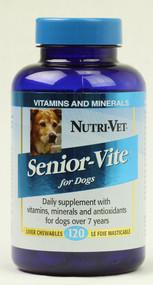 Nutri-Vet Senior-Vite for Dogs Liver - 120 Chewables