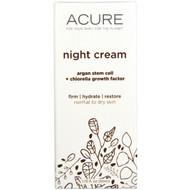 Acure Organics, Night Cream, Argan Stem Cell + Chlorella Growth Factor, 1.75 fl oz (50 ml)
