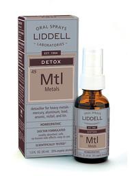 Liddell Homeopathic Detox Metals Spray - 1 fl oz