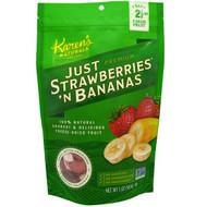Karens Naturals, Premium, Freeze- Dried Fruit, Just Strawberries N Bananas, 5 oz (140 g)