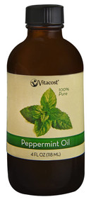 Vitacost Essential Oils 100% Pure Peppermint -- 4 fl oz (118 mL)