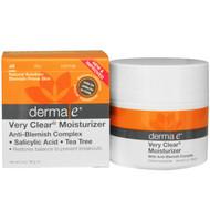 Derma E, Very Clear Moisturizer, Anti-Blemish Complex, 2 oz (56 g)