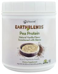 Vitacost - Earth Blends Pea Protein Powder - Non-GMO Vanilla - 24.55 oz (1 lb 8.55 oz)