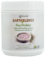 Vitaco, - Earth Blends Pea Protein Powder - Non-GMO and Gluten Free,  Strawberry - 24.1 oz (683 g)