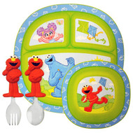 Munchkin, Sesame Street Toddler Dining Set, 4 Piece Set