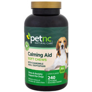 petnc NATURAL CARE, Calming Aid, Stress & Anxiety Support for Dogs, Liver Flavor, 240 Soft Chews
