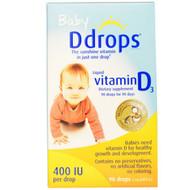 Ddrops, Baby, Liquid Vitamin D3, 400 IU, 0.08 fl oz (2.5 ml), 90 Drops