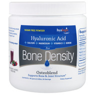 Hyalogic , Osteoblend, Hyaluronic Acid, For Bone Density, Mixed Berry, 0.40 lbs (180 g)