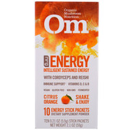 Organic Mushroom Nutrition, Energy, Mushroom Powder, Citrus Orange, 10 Packets, 0.21 oz (5.9 g) Each
