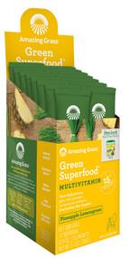 Amazing Grass Green Superfood Gluten Free Pineapple Lemongrass - 15 Packets