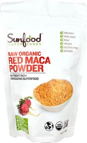 SunFood Raw Organic Red Maca Powder - 4 oz