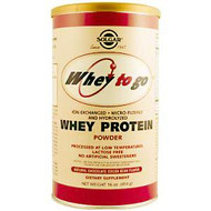Solgar, Whey To Go, Whey Protein, Natural Chocolate Flavor, 16 oz (454 g) Powder
