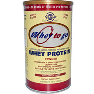 Solgar, Whey To Go, Whey Protein Powder, Natural Vanilla Flavor, 12 oz (340 g)