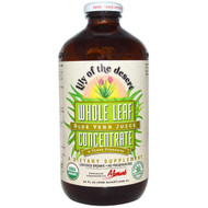 Lily of the Desert, Organic, Aloe Vera Juice, Whole Leaf Concentrate, 32 fl oz (946 ml)
