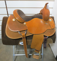 FUTURITY COWHORSE TRAINING SADDLE, Seat 15 1/2""