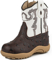ROPER BROWN OSTRICH PRINT BOOT
