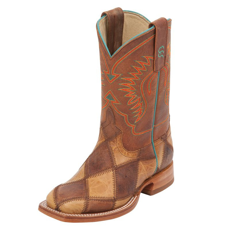 KID'S PATCHWORK WESTERN BOOT BY ANDERSON BEAN