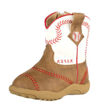 INFANT BASEBALL STITCHING TAN BOOTS BY ROPER