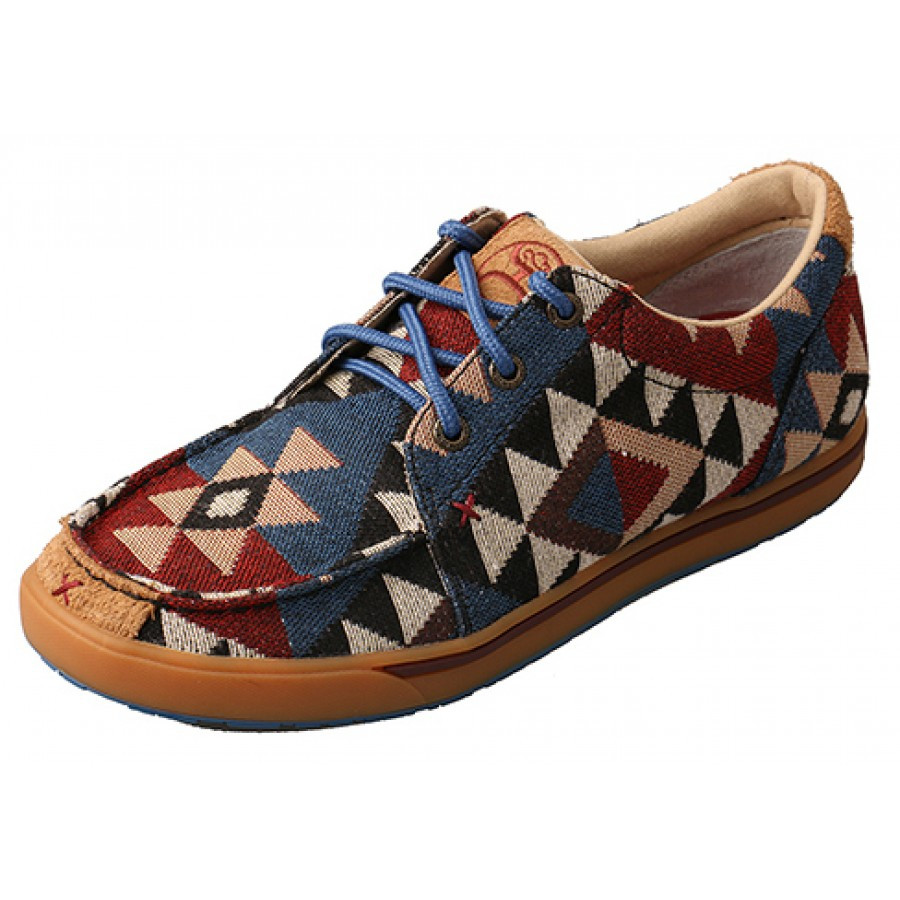 LADIES TWISTED X HOOEY GRAPHIC PATTERN CANVAS SHOE