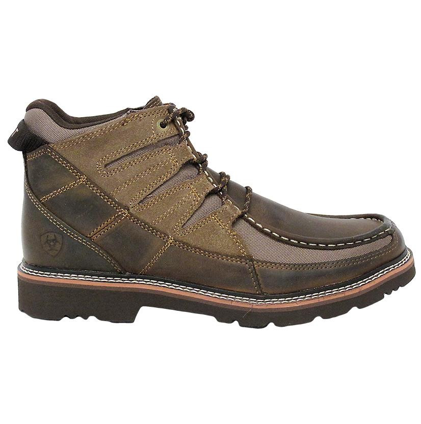 MEN'S ARIAT BROWN EXHIBITOR LACE-UP HIKING SHOES - FREE SHIPPING