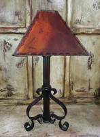 BLACK ROD IRON LAMP - SHADE SOLD SEPARATELY