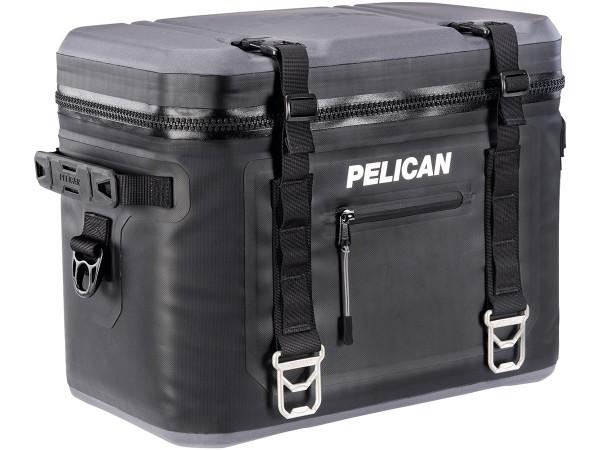 PELICAN ELITE 24 CAN COOLER - 25 QT - BLACK AND GREY