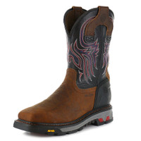 MEN'S JUSTIN 5X STEEL TOE WORK BOOT - FREE SHIPPING
