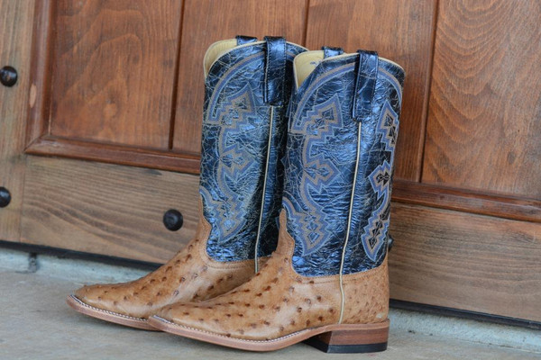 MEN'S ANDERSON BEAN BROWN GLAZED FULL QUILL BOOTS FROM DENNARDS - FREE SHIPPING