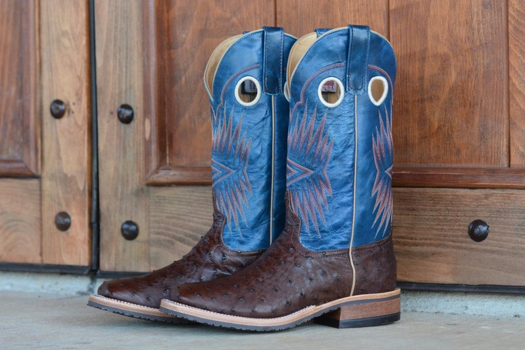 267d0ef077f ANDERSON BEAN BROWN GOAT TOP W/ FULL QUILL BOOTS