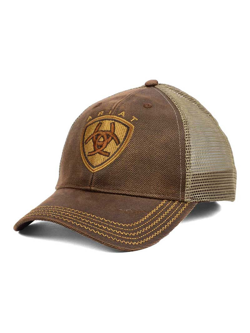 3cc344f0c07dd ARIAT OILSKIN MESH CAP. Price   20.00. Image 1