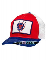 ARIAT LOGO CAP RED/WHT/BLU