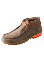 TWISTED X MENS DRIVING MOC ORANGE BOMBER