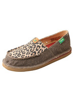 TWISTED X WOMENS DUST LEOPARD SLIP ON