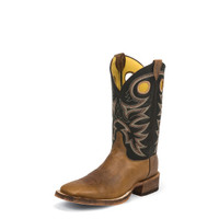 JUSTIN BENT RAIL CADDO BLACK BOOTS