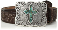 NOCONA TURQUOISE CROSS BELT