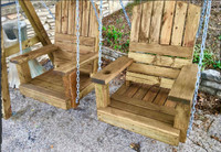 """ARCHED SINGLE SEATS"" TREATED PINE"