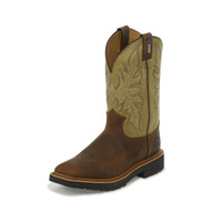 JUSTIN SCOTTSBLUFF TAN WORK BOOT
