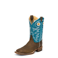 JUSTIN BENT RAIL CADDO BLUE BOOTS